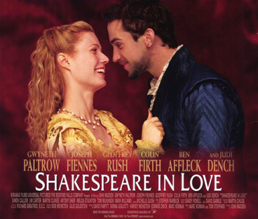 Image result for shakespeare in love 1998 poster